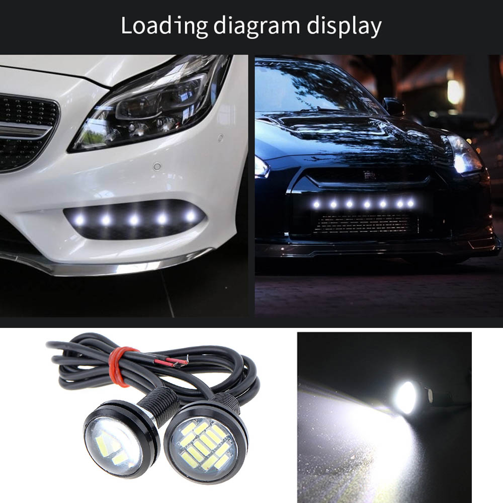1pcs DC 12V Eagle Eye LED Light 4014 12SMD 23MM Daytime Running DRL Backup Light Car Auto Lamp in Car Light Assembly from Automobiles Motorcycles