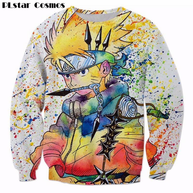 Plstar Cosmos pintura del arco iris Naruto 3D sudadera ninja anime Jerséis Harajuku hip hop abrigo Galaxy sudaderas tops