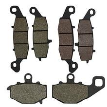 Pastilhas de freio dianteiro e traseiro para kawasaki kle 650 kle650 versys 07-13 er6f ER-6F 06-13 er6n ER-6N 06-13 z750 z750s zr750 04-07