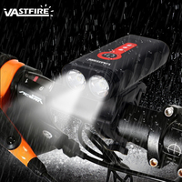 1000lm MTB Bike Light USB Rechargeable XM L2 LED Bicycle Lamp Front Bike Headlight Cycling Light Upgrade 360 rotation