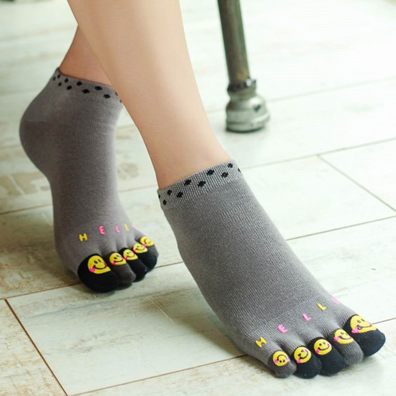 Women's Girls Socks Cotton Meias Five Finger Socks Toe Socks For Size 35-40 Calcetines Ankle Sock Free Shipping