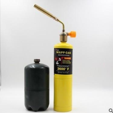 Mapp Gas Turbo Torch Brazing Solder Propane Welding Plumbing Gas Self Ignition Turbo Torch Brazing Solder Propane Welding