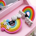 Cute cartoon stereoscopic rainbow clouds ls while a word clip hairpin, children