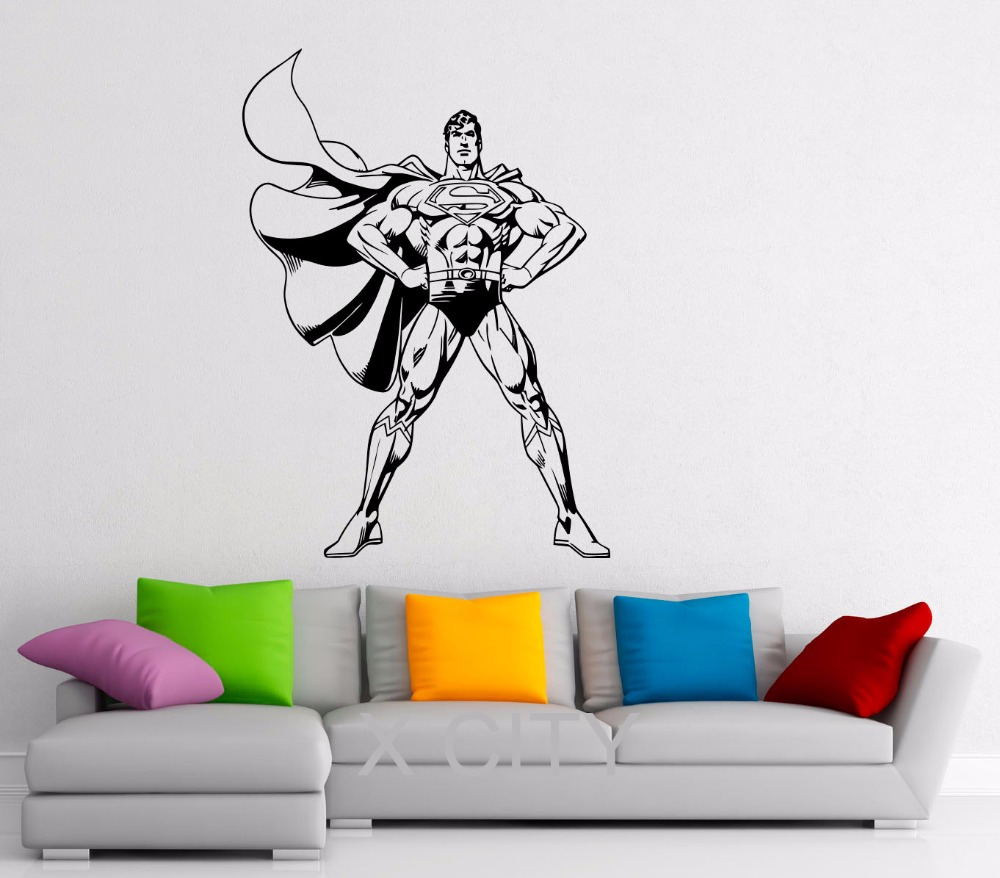Man poster super hero vinyl wall cool sticker art life size wall man poster super hero vinyl wall cool sticker art life size wall art big mural wall art wall stickers home nursery decor in wall stickers from home garden amipublicfo Images