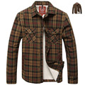 Famous Brand Winter Warm Shirt Men Classic Plaid Shirt Man Velvet Thickening Mens Long Sleeve Khaki Shirt Casual SIZE L-3XL