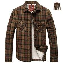 Berühmte Marke Winter Warm Shirt Männer Klassische Kariertes Hemd Mann Samt Verdickung Herren Langarm Khaki Hemd Casual GRÖßE L-3XL