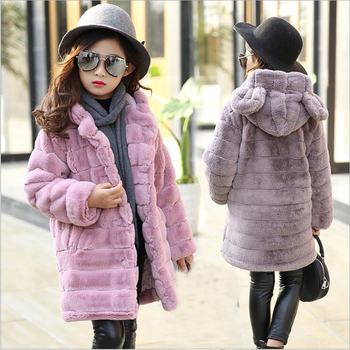 New Children Russia Winter Jacket Girl Winter Coat Kids Warm Thick Fur Collar Hooded long down Coats For Teenage 6 8 10 12 14