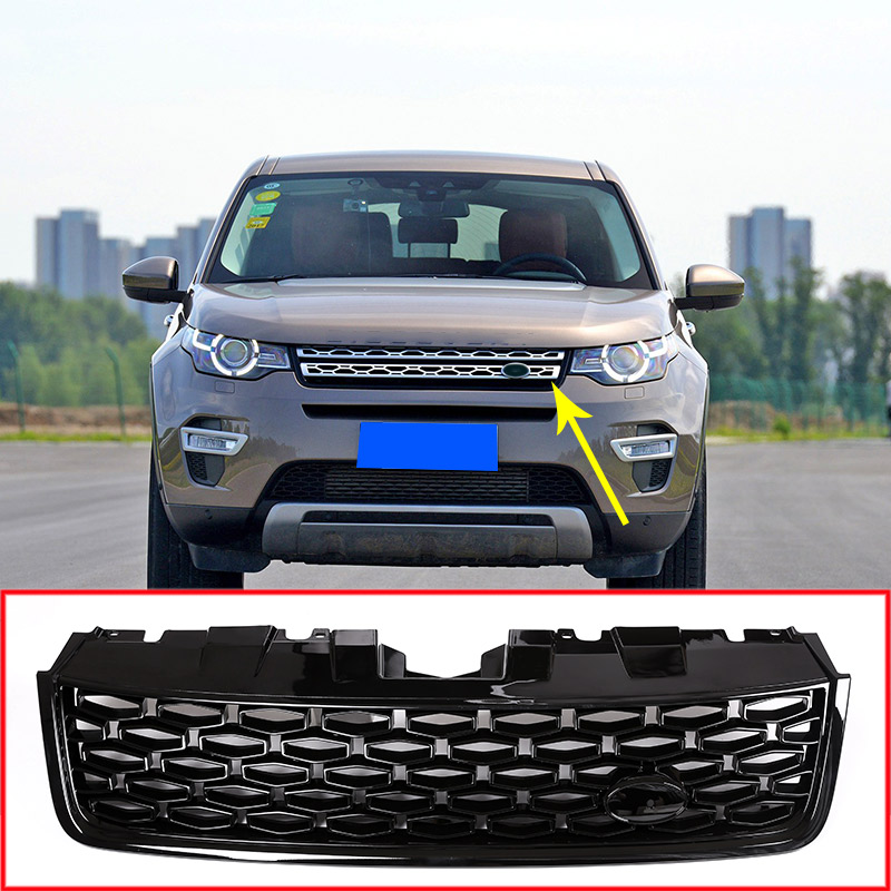 For Land Rover Discovery Sport 2015 2017 ABS Black Main Body Car Front Grilles Mesh Grills