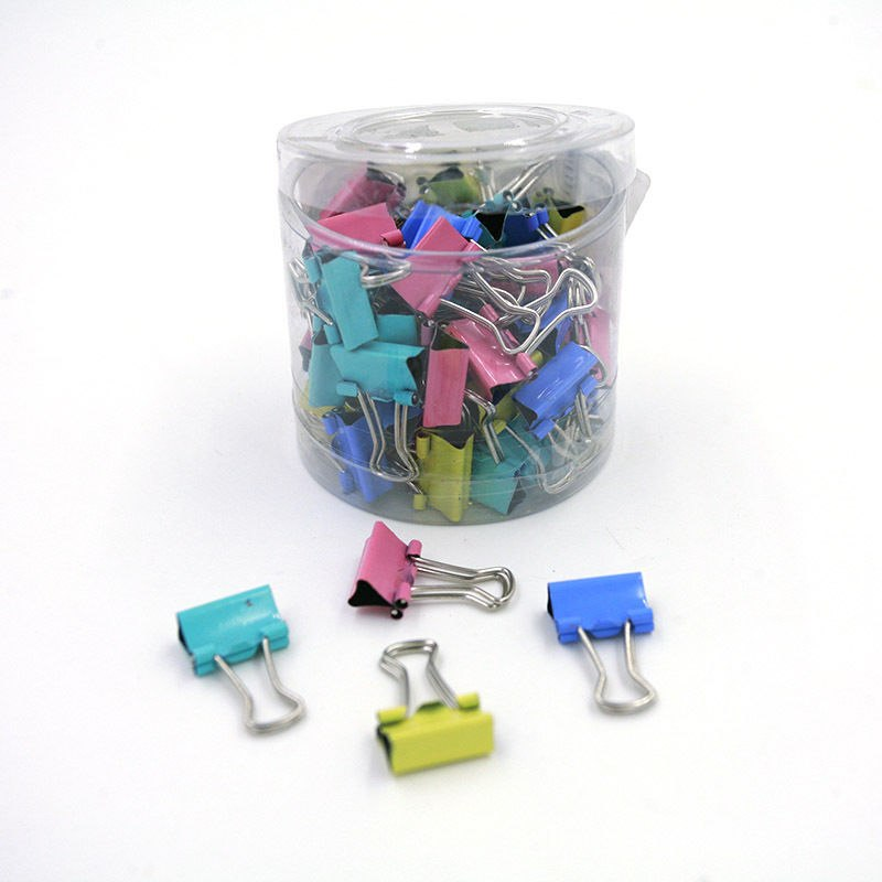 60/6/5PCS/lot Colorful Hollowed Out Design Binder Clip For Office School Paper Organizer Stationery Supply Decorative Metal Clip