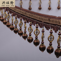 XWL 15M Lot Crystal Beads Curtain Lace Trim DIY For Sewing Drapery Sofa Decorative Lace Ribbon