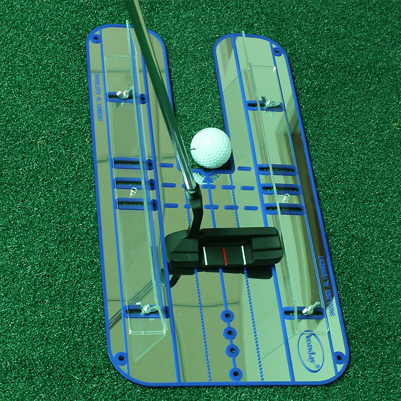 Professional Golf Putting Alignment Mirror Golf Putting Plane Golf Practice Training Mirror Aid golf putting mat mini golf putting trainer with automatic ball return indoor artificial grass carpet