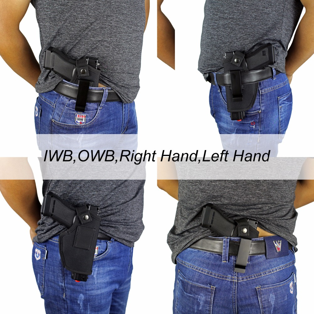 US $7 48 5% OFF|Gun Clip Holster Ultimate Concealed Carry IWB OWB Holster  for Right Hand or Left Hand Draw fits Subcompact to Large Handguns-in
