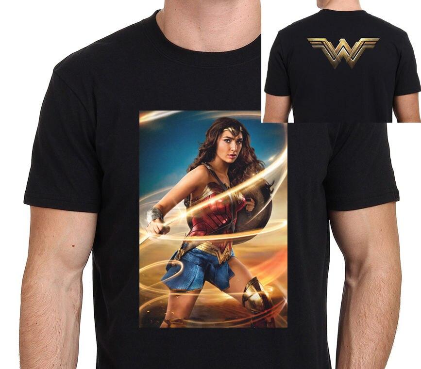 Модные Стиль чудо-женщина гадот новый фильм плакат Для мужчин футболка: S-XXL Для мужчин забавные с круглым вырезом хлопковая футболка с корот...