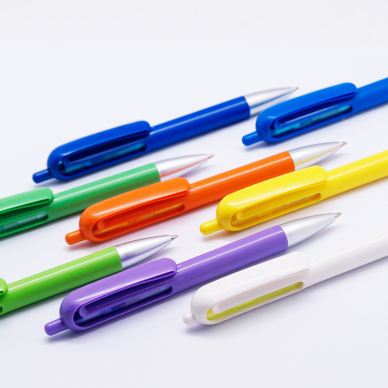 200 pcs/lot new novelty click plastic ballpoint pen for writing stylo