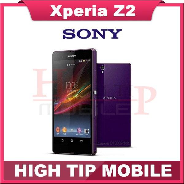 "Original Sony Xperia Z2 Mobile Phone 5.2"" Quad Core Smartphone 3GB RAM 20.7MP NFC LTE Waterproof Cell Phones  Refurbished Phone"