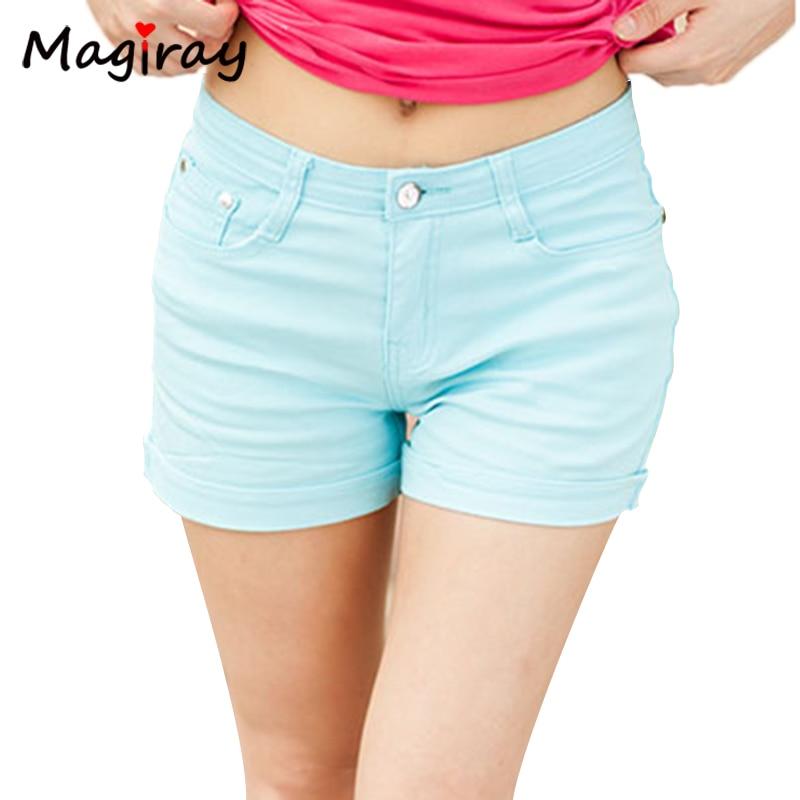 Jeans Shorts Elastic Feminino Autumn Summer Plus-Size Women New Hot Hem Spring Solid