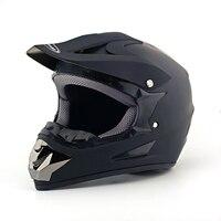 MAYITR New Hot Men Motocross Racing Helmet Motorcycle ATV Dirt Bike Off Road Matte Black Helmet with Logo Size M L XL