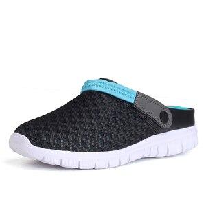 Image 1 - 2020 Heren Sandalen Slide Slippers Mesh Ademende Man Vrouw Mannelijke Schoenen Sandalias Zomer Schoenen Sandalen Sandalet Big Size 46 47