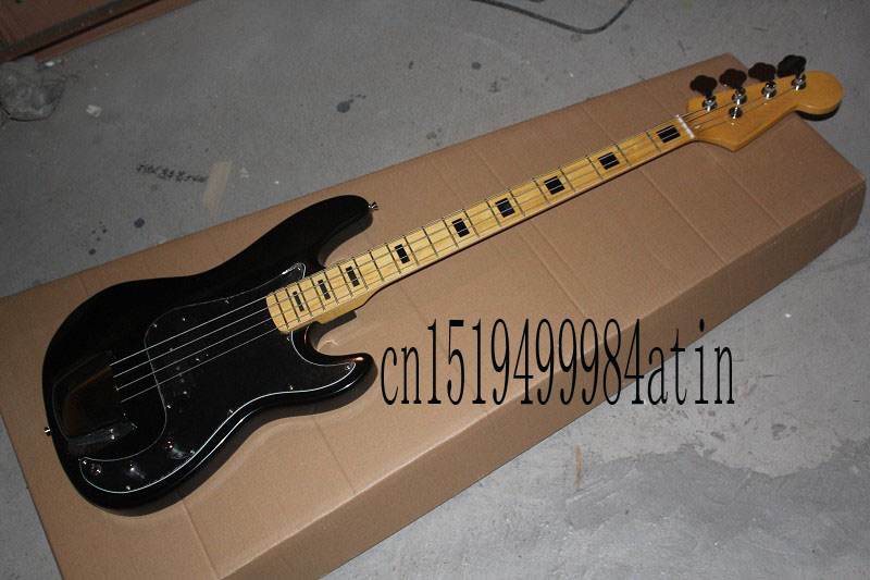 free shipping top quality lower price 2018 new fd 4 string black precision bass electric guitar. Black Bedroom Furniture Sets. Home Design Ideas
