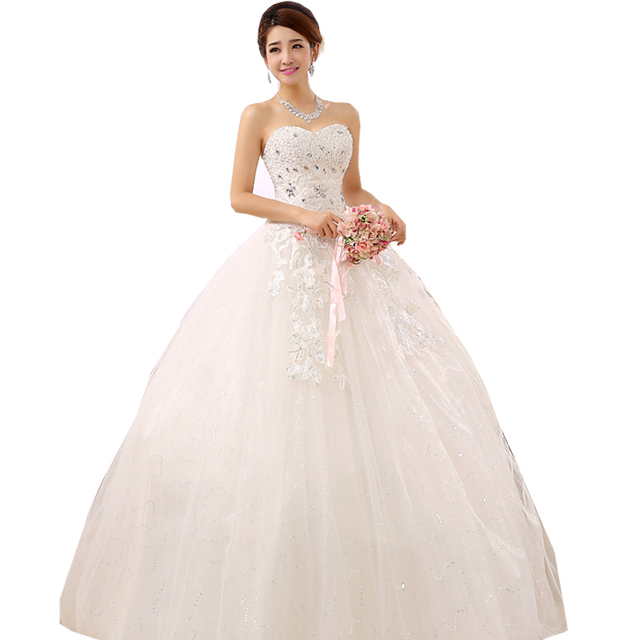 Ball Gown Wedding Dresses With Crystal Weddings Bandage Tube Top ...