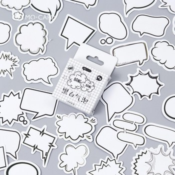 45 pcs/pack Creative Leave a Message Stickers Label Sticker DIY Post-it Notes for Diary Album Label Sticker School Office Supply