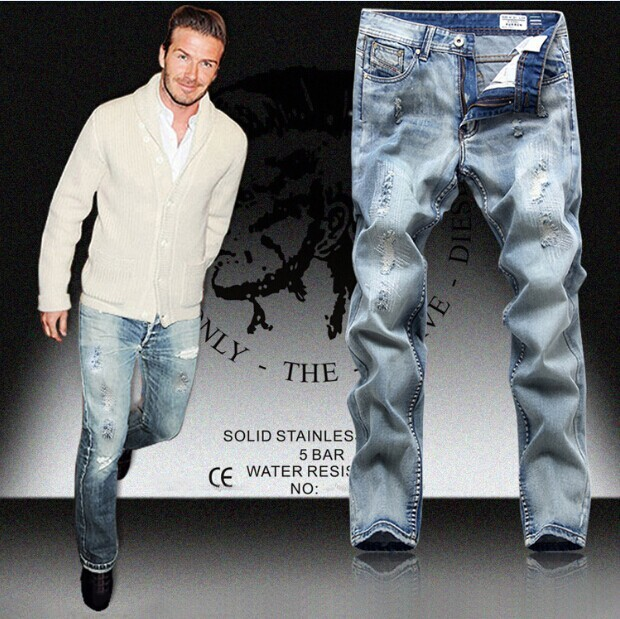 Famous Slim New 2015 Brand Designer Mens Fashion Jeans qCCSHBw