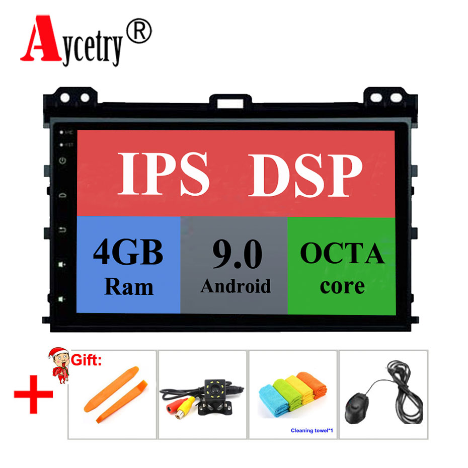 DSP IPS 9'' 8 Core 4G 2 din Android 9 Car multimedia DVD Player GPS audio for Toyota Prado 120 for Lexus GX470 car Radio stereo