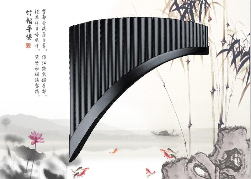 madeira instrumento de bambu natural pan flauta