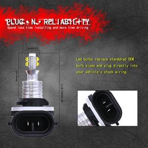 Image 2 - 2pcs 1500 Lumens CREELED 40w H27 881 LED Car Fog Light Bulbs Day Running Light White Waterproof IP68 H27W/2 Led For HYUNDAI