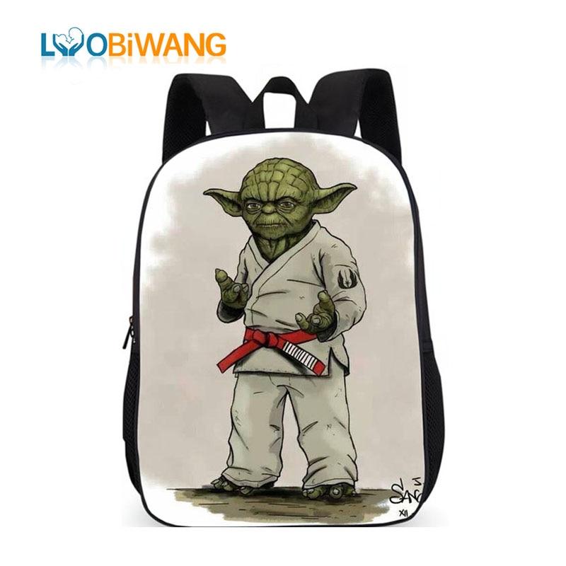 LUOBIWANG BRAZILIAN Jiu Jitsu Boy Backpack For School 3d Cartoon Judo Karate Schoolbag For Teenager Boys And Girls Book Bags