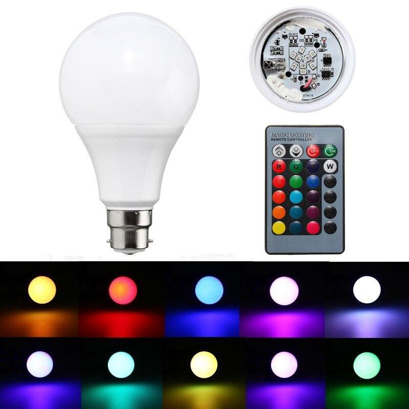 20W B22 RGB LED Bulb Stage Lamp 85-265V 16 Color Changing Lamp Bulb Home Energy Saving Lamp Lighting + 24 Keys Remote Control yam rgb led e27 15w lamp color changing light bulb with remote control 85 265v for home or commercial decorations