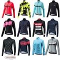Женская велосипедная одежда Morvelo, теплая флисовая велосипедная одежда с длинным рукавом, одежда для спорта на открытом воздухе, зима 2019