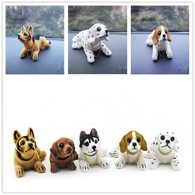 Car Styling Cute Bobblehead Dog Doll Car Ornament Nodding Dog Shakes His Head Shaking Dog For Car Decoration Furnishing Articles