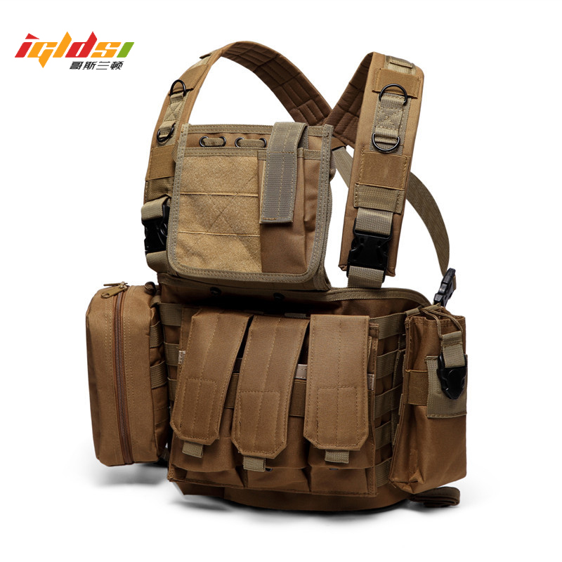 Military Tactical Vest Army Airsoft Ammo Chest Rig Combat CS Molle Vest Soldier Training Camouflage Jungle Hunting Vest