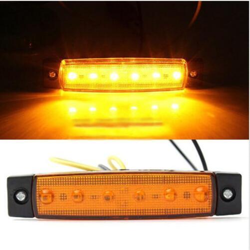 12V 6 LED Truck Boat BUS Trailer Side Marker Indicators
