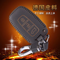 Wallet Keychain Leather For Hyundai Elantra Genuine Leather Case Cover Shell For Hyundai Leather Key Holder 3 Button Key Ring