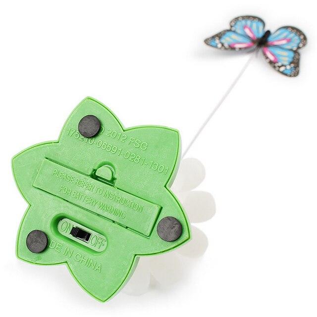 Jouet automatique électrique rotatif papillon pour chat 4