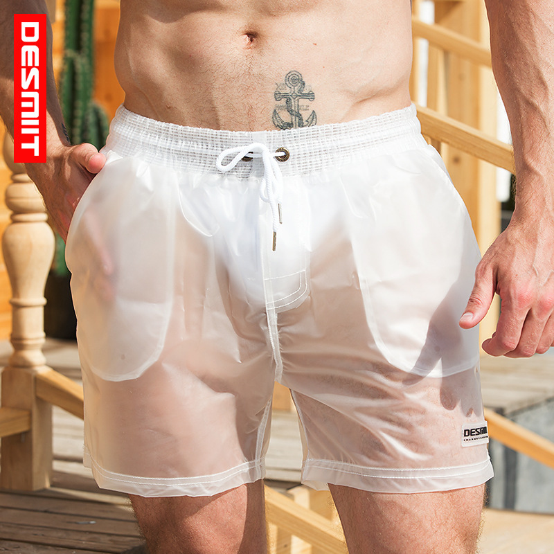 Desmiit Sexy Swimming Shorts For Men Transparent Swimsuit Men Swim Truns New Quick Dry Beach Shorts Swimwear Maillot De Bain