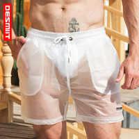 Desmiit Sexy Swimming Shorts For Men Transparent Swimsuit Men Swim Truns New Quick Dry Beach Shorts Swimwear Maillot De Bain
