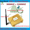 Full Sets GSM 900MHz  GSM 2100MHz Repeater Dual Band GSM 3G W-CDMA Mobile Phone Signal Repeater Booster Amplifier With Antenna