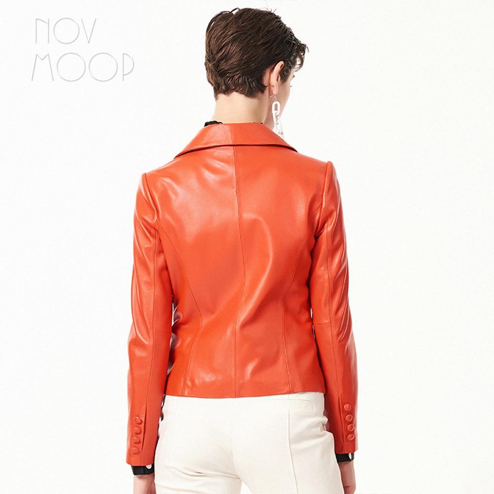 Grade Automne Manteau orange Gris Véritable Printemps Haut Ropa grey En Feminino Femmes Black Pic Noir Agneau Costume Cuir Lt2703 Pic Pic Orange Per Veste Casaco OPZuTikX