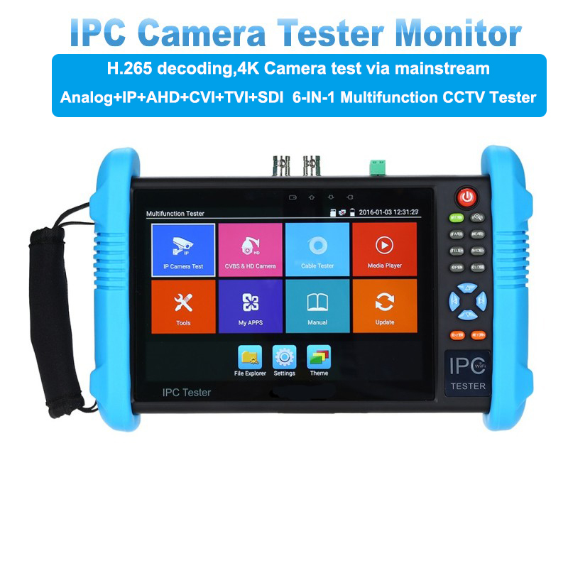 7inch 1920*1200 IP Camera Tester 4K 1080P IPC CCTV Monitor Video Audio POE Test Touch Screen HDMl Discovery 8GB 9800PLUS monitor