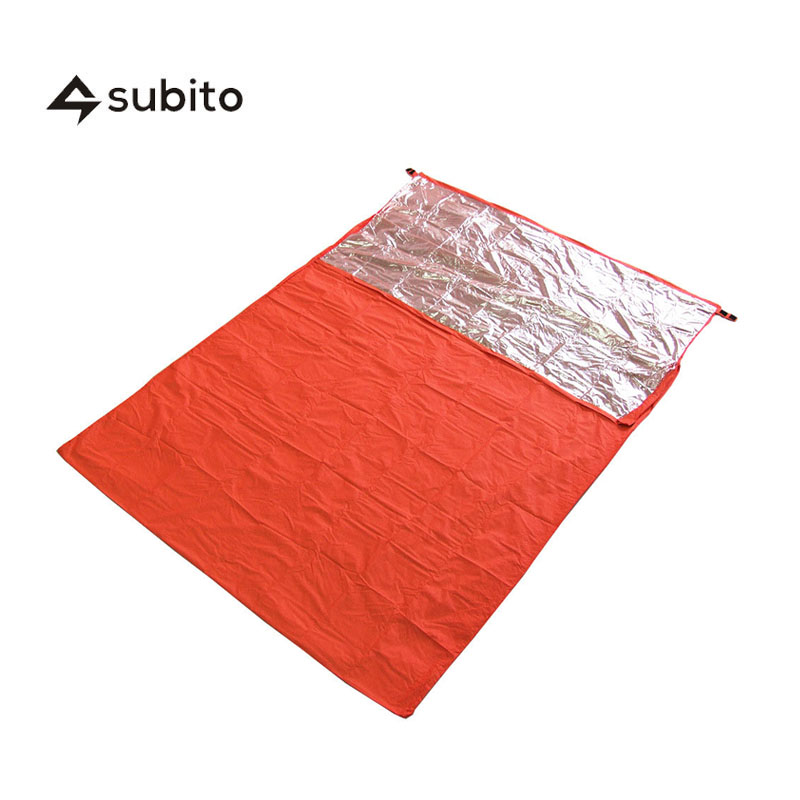 SUBITO Double Person Sleeping Bag Outdoor Camping Envelope Style Thermal Reflection Sleeping Bags Emergency Survival Blanket creeper cr sl 002 outdoor envelope style camping sleeping bag w hood royalblue dark blue