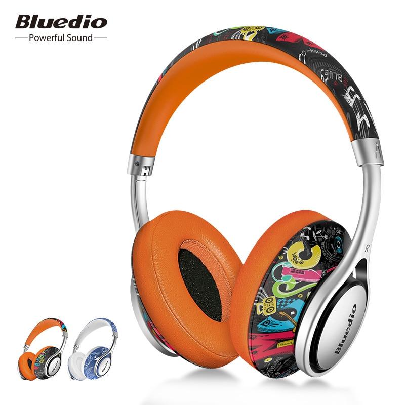 Bluedio A ( Воздуха) Bluetooth-гарнитура /беспроводные наушники/ Bluetooth 4,1/растягиваемое регулируемое оголовье/аудиовыход/аудиовход