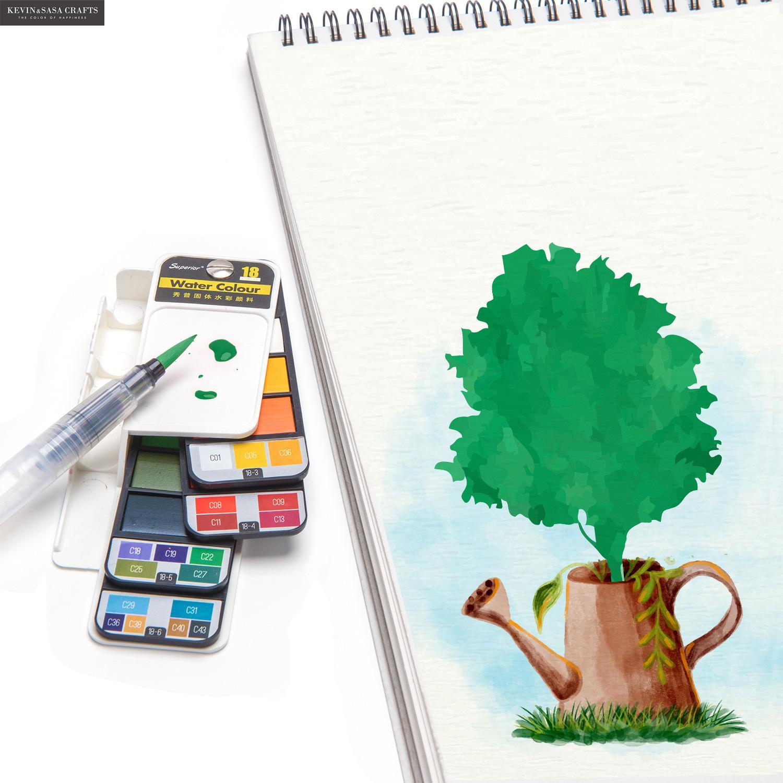 nova qualidade conjunto pintura cor agua 04