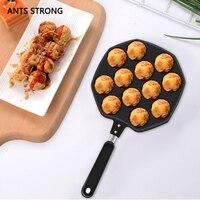 KIẾN kim loại MẠNH MẼ không dính nhát trứng baking khuôn/Non stick takoyaki maker baking pan waffle máy
