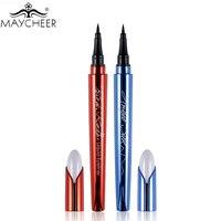 MAYCHEER Brand Makeup Silk Black Liquid Eyeliner Pencil Waterproof Longlasting Quick Dry Vitamin E Eye Liner Pen Make Up