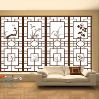 60x100cm Retro Wardrobe Glass Foil Chinese Window Stickers Custom Made Opaque Balcony Kitchen Sliding Door Bedroom