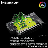 Barrow BS NVG2070 PA  Full Cover Graphics Card Water Cooling Blocks For NVIDIA Founder Edition RTX2070/2060  INNO3D RTX2070 TWIN|Fans & Cooling| |  -