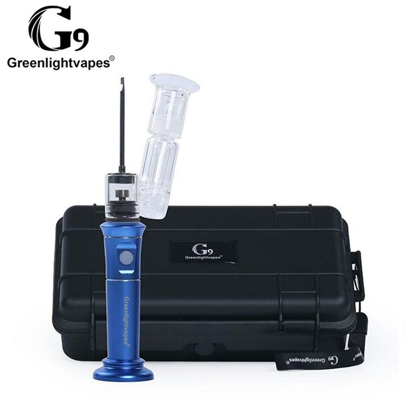 G9 h-enail Plus stylo à cire Portable Dab Rig Henail tuyaux en verre d'eau barboteur bouchon de Carb outils Kits de démarrage de vapeur pour herbe sèche 0C